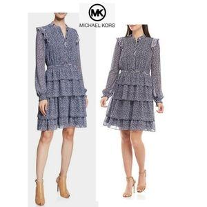 Michael Kors Floral Ruffle Dress. Sz 2 Or…